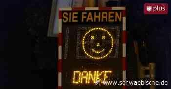 Geschwindigkeitsmessungen in Lauchheim: Smileys besser als Superblitzer - Schwäbische