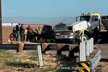 At least 13 killed after SUV crashes into gravel truck in California