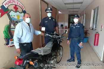 Alcaldía de Alanje dona motocicleta a la Policía para reforzar la vigilancia en el distrito - Chiriquí - frecuenciainformativa.com
