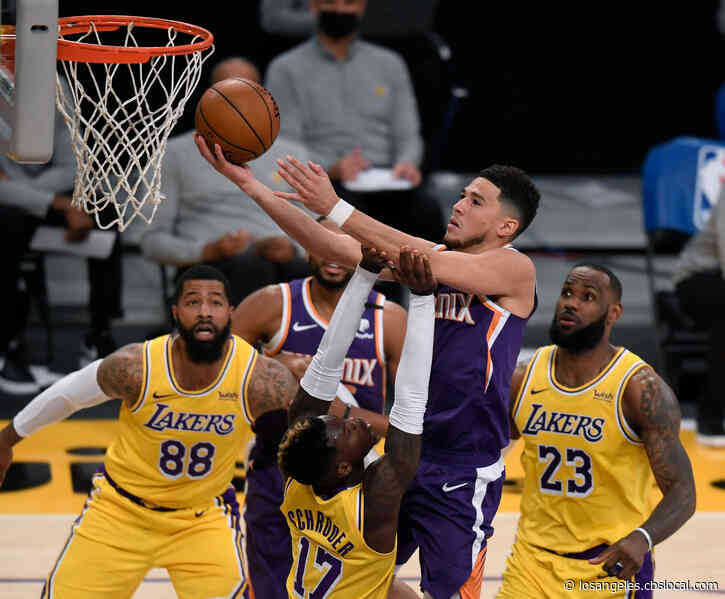Suns Overcome Booker's Ejection, Hold Off Lakers 114-104