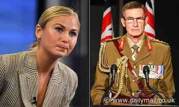 Grace Tame slams Defence Chief Angus Campbell after telling trainees not to be 'prey' for assault