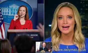 McEnany lays into Biden for not giving pressers and moans she was treated differently to Jen Psaki