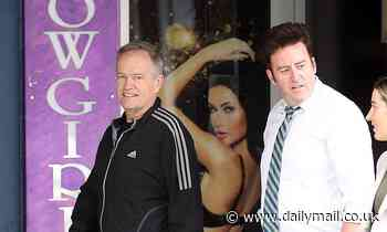 Bill Shorten walks past Showgirls in Sydney on day Christian Porter denies rape allegations
