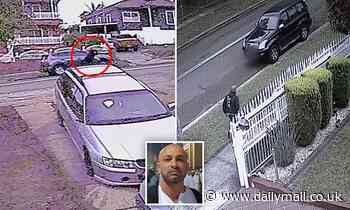 Footage shows brother of crime boss Bassam Hamzy seconds after he was gunned down