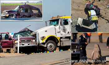 Ford SUV was transporting '25 illegal immigrants' when it crashed into a gravel truck, killing 13