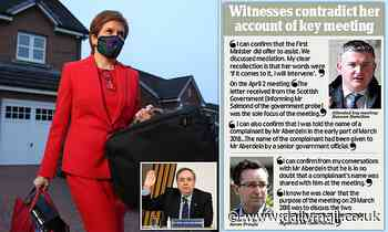 Nicola Sturgeon on the brink: Two witnesses BACK Alex Salmond's version of events