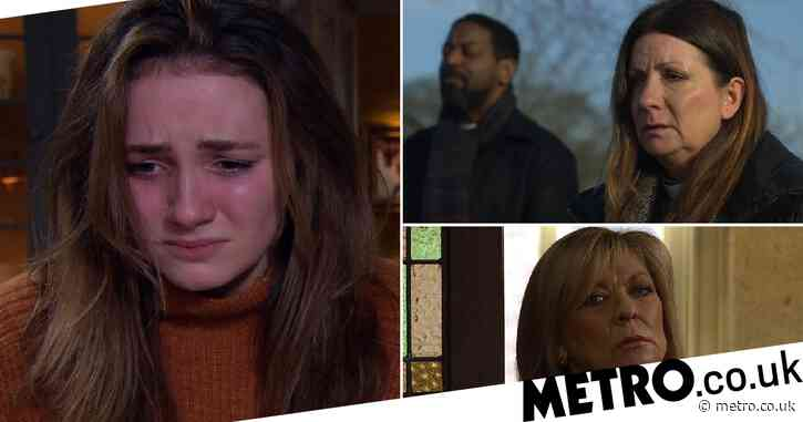 Emmerdale spoilers: 38 new images reveal miscarriage trauma, Harriet's murder secret exposed, and drugs terror