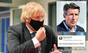 Boris Johnson rebuked by Lord Coe for using tired mantra after confirming backing for 2030 World Cup