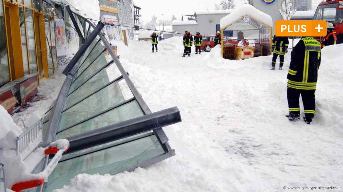 Als Landsbergunter den Schneemassen ächzte