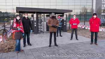 Erster Warnstreik: Mitarbeiter von Airbus in Manching legen die Arbeit nieder - Augsburger Allgemeine