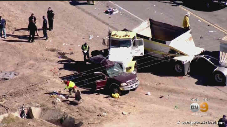 13 Killed After Big Rig, SUV Collide In Imperial County; Human Smuggling Investigation Underway