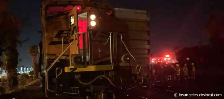 One Killed After 2 Freight Trains 'Converge' In Buena Park
