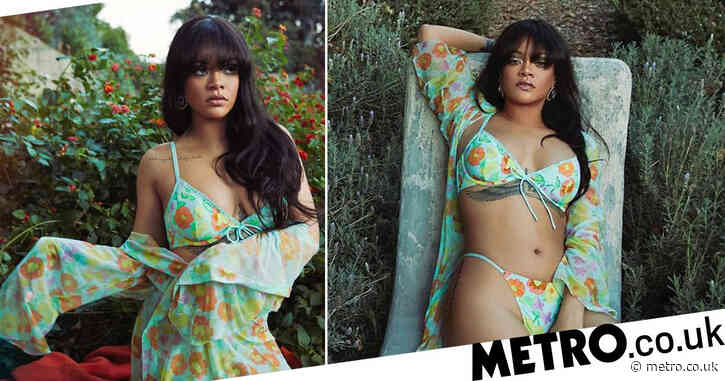 Rihanna stuns in florals for Spring as she reveals new Savage x Fenty campaign