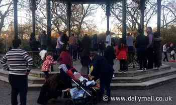 Moment ten people are seen SALSA DANCING in London park with no masks