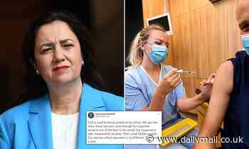 Queensland Health's bizarre tweet defending slow vaccine rollout says state is being 'picked on'