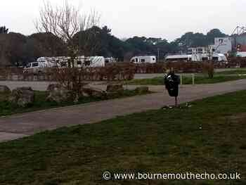 Unauthorised encampment at King's Park in Bournemouth
