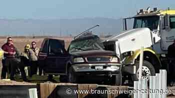 USA: Schwerer Autounfall in Südkalifornien: Mindestens 13 Tote