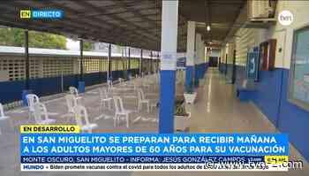 Todo listo en San Miguelito para iniciar vacunación de adultos mayores de 60 años este jueves - TVN Noticias