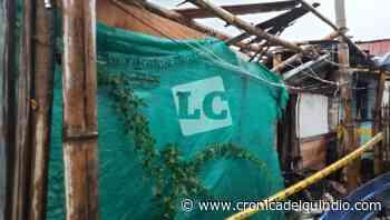 Lluvias ocasionan desplome de vivienda en barrio Las Colinas - La Cronica del Quindio