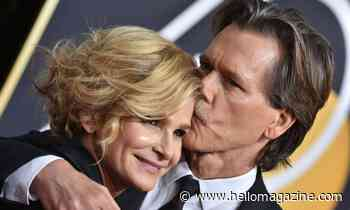 Kyra Sedgwick teases fans with passionate kiss - but it's not with husband Kevin Bacon