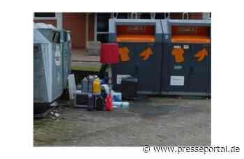 POL-HK: Schneverdingen: Polizei sucht Zeugen: Altöl, Diesel und mehr abgestellt - Presseportal.de
