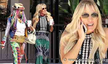 Braunwyn Windham-Burke looks desert chic as she steps out with her mom Dr. Deb in Palm Springs
