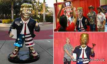 Golden Donald Trump statue at CPAC was 'made in China, not Mexico'