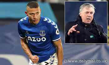 Everton boss Carlo Ancelotti tips Richarlison to become one ofthe TOP strikers in Europe
