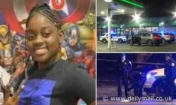 Girl, 11, is left clinging to life after being struck in the face by a stray bullet in Chicago