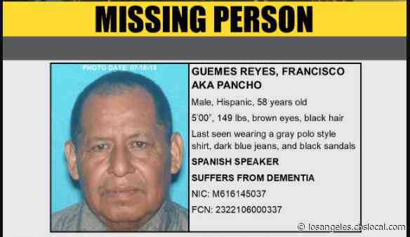 Deputies Seek Missing Man With Dementia Last Seen In East Compton Area