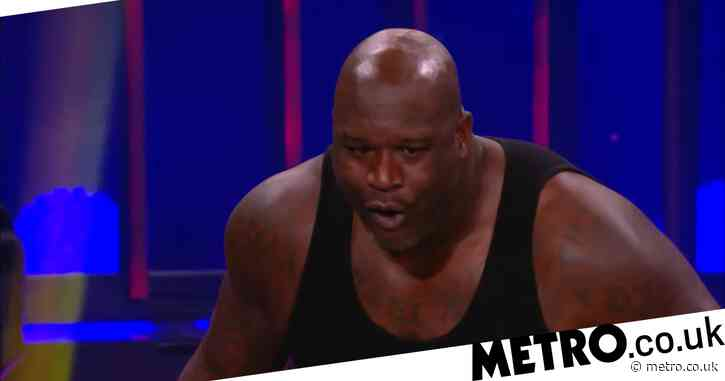 Shaquille O'Neal stretchered out of arena into ambulance: Shaq crashes through table on AEW