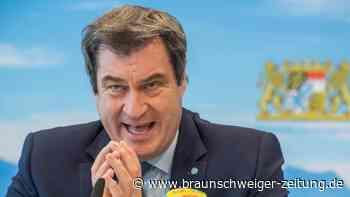 """Corona-Beratungen: """"Schlumpfig"""": Heftiger Streit zwischen Söder und Scholz"""