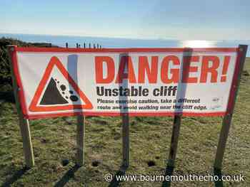 Waring over landslide risk at Hengistbury Head, Bournemouth