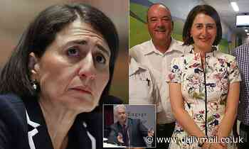 Gladys Berejiklian looks uncomfortable as she's questioned about ex-lover Darly Maguire during