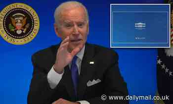 Biden is cut off at the end of virtual meeting after he says he's 'happy to take questions'