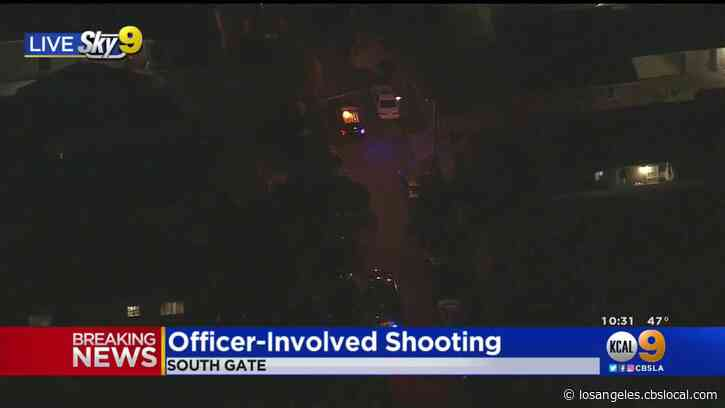 Officer-Involved Shooting In South Gate Sends Suspect To Hospital