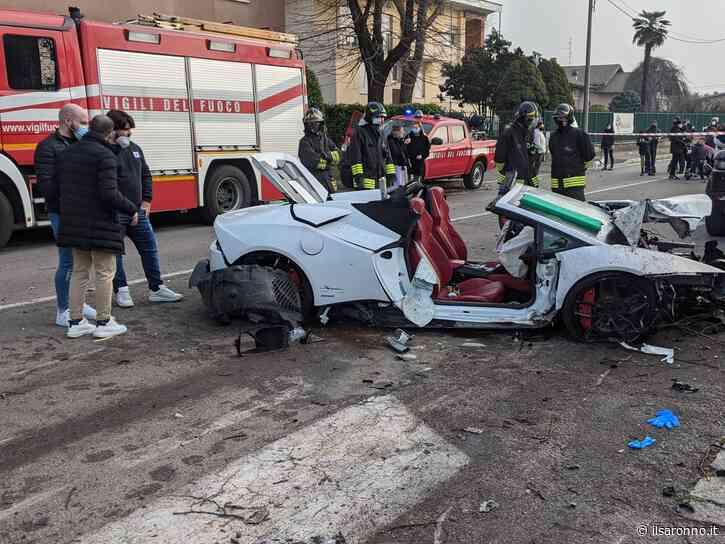 Lamborghini travolge alberi e auto a Rovellasca: fuoriserie distrutta e due feriti - ilSaronno