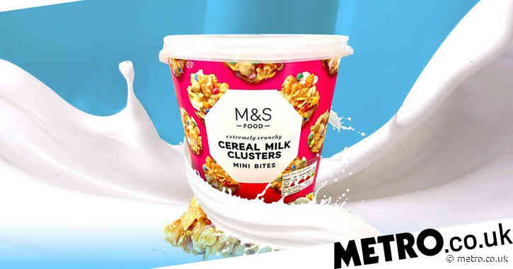 M&S launches cereal milk clusters – and it's just the WFH snack we need