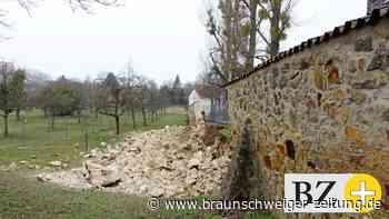 Teile der Helmstedter Stadtmauer plötzlich eingestürzt