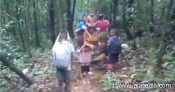 Desgarrador video de familias indígenas que huyen del ELN en Alto Baudó - Blu Radio