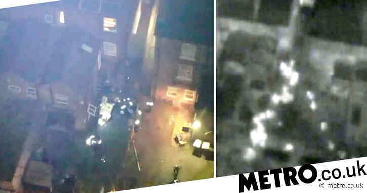 Dozens of people filmed fleeing illegal lockdown rave during police raid