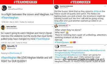 Meghan Markle and Royal Family fans fight war of words on Twitter ahead of Oprah interview