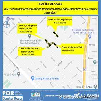 Actualizan programa de interrupciones vehiculares en Santa Rosa - La Pampa La Arena