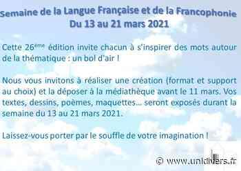 Semaine de la francophonie à la médiathèque Auvers sur oise,parc Van Gogh,médiathèque mardi 16 mars 2021 - Unidivers