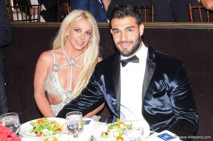 Britney Spears Celebrates Boyfriend Sam Asghari's Birthday by Squeaking Along to 'Toxic'