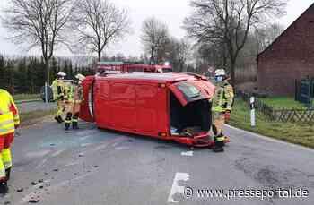 FW Xanten: Verkehrsunfall mit drei Verletzten - Presseportal.de