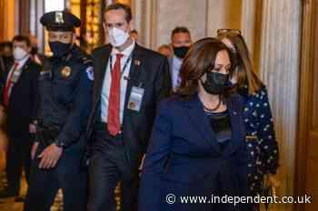Kamala Harris casts tie-breaking vote to allow debate on Biden's Covid relief bill to begin in Senate