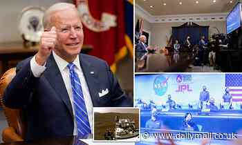'We can land a rover on Mars, we can beat a pandemic': Biden congratulates NASA's Perseverance team