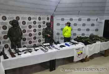 Encontraron tremenda caleta de armamento perteneciente a alias 'Carlos' en Rioblanco – Tolima - Alerta Tolima