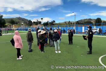 Yunguyo: intervienen a personas que realizaban actividad deportiva en Ollaraya - Pachamama radio 850 AM
